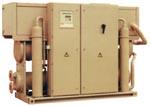 Чилер с водяным охлаждением конденсатора для установки внутри помещения